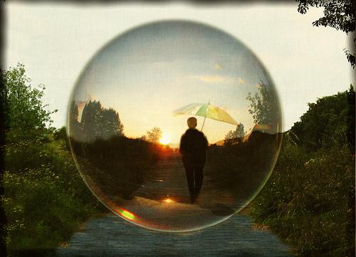 Person in Bubble
